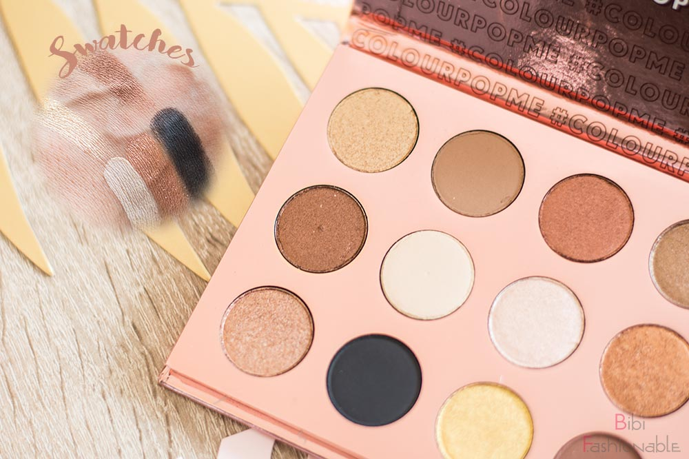 ColourPop I think I love you Pressed Shadow Palette Swatches linke Seite