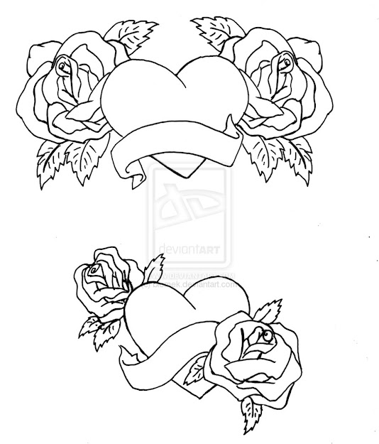 Hearts And Roses Coloring Pages  Coloring Pages Heart Coloring Pages Heart  With Roses Coloring Page