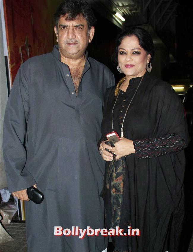 Baba and Tanvi Azmi, Gulaab Gang Movie Premiere Pics