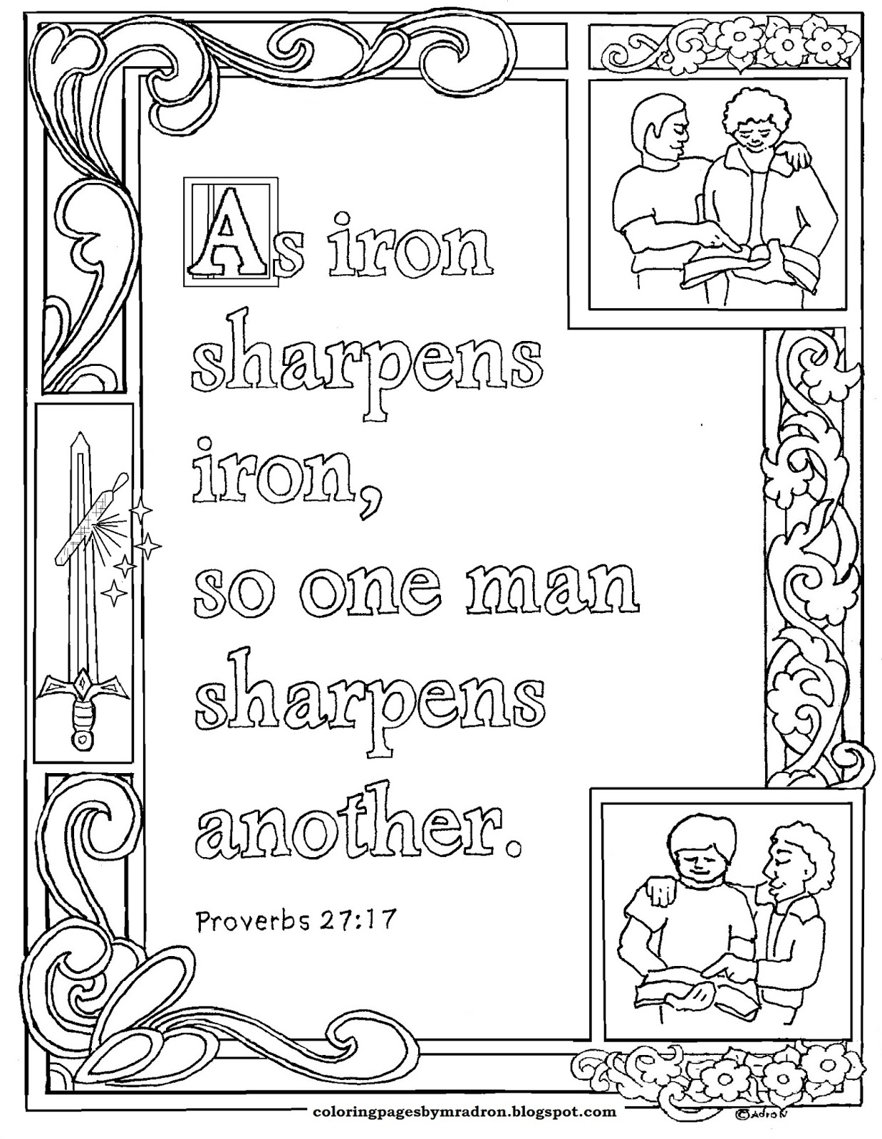 coloring pages proverbs - photo#14