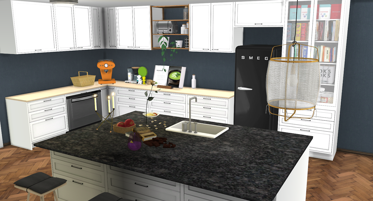 Sims 4 cc 39 s the best s series kitchen set by minc78 for Kitchen set 008 82