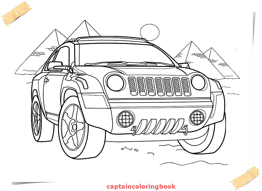 jeep coloring pages free ebook - Jeep Coloring Pages