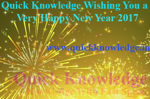 Quick Knowledge Wishing You a Very Happy New Year