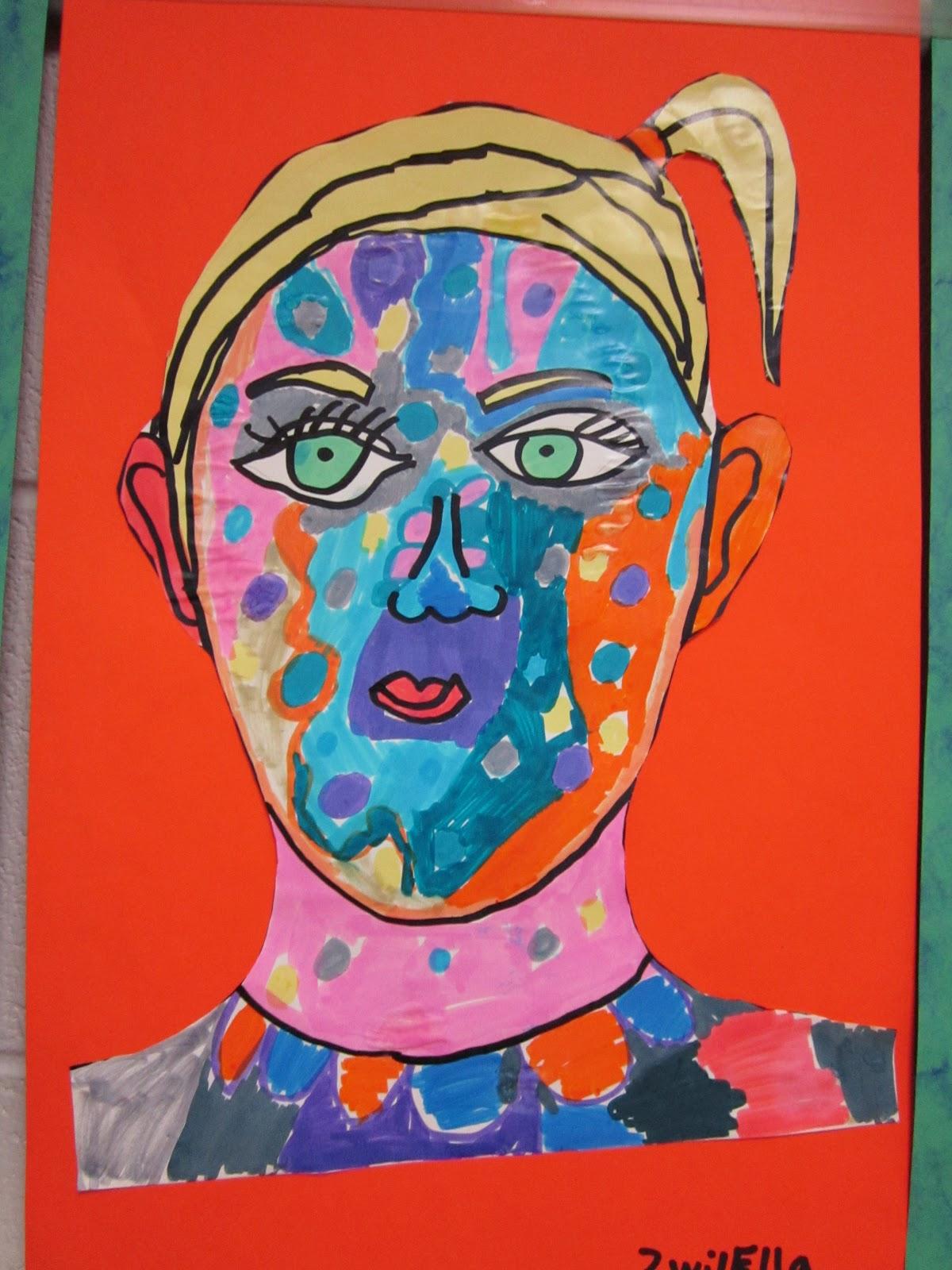 Chumleyscobey Art Room 2nd Grade Self Portrait A Bad