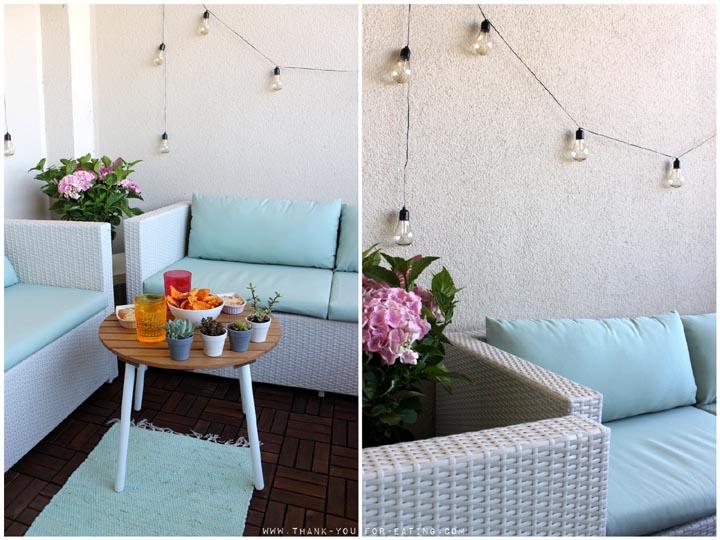 Balkon mit Tchibo-Möbeln umgestalten