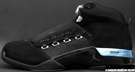 f728e3c2d936 Air Jordan 17 Retro Collezione (05 24 2008) 322721-001 Black Metallic Silver