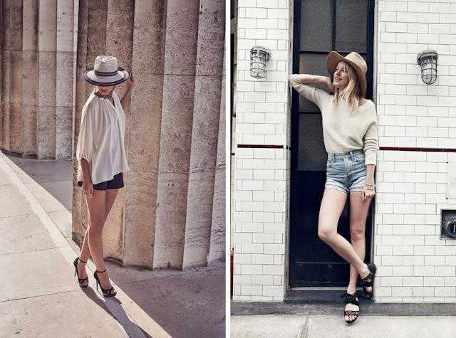 Девушка в соломенной шляпе федоре летом в городе