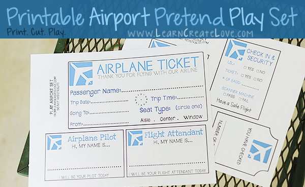 Air Travel Activities & Printables (KLP Linky) - Every ...