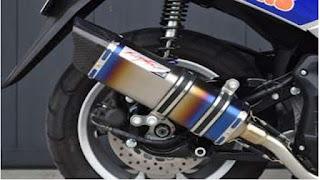 Hitman Muffler Titanium Rainbow NMAX
