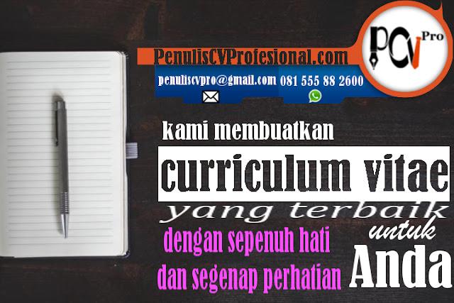 Jasa penulis cv