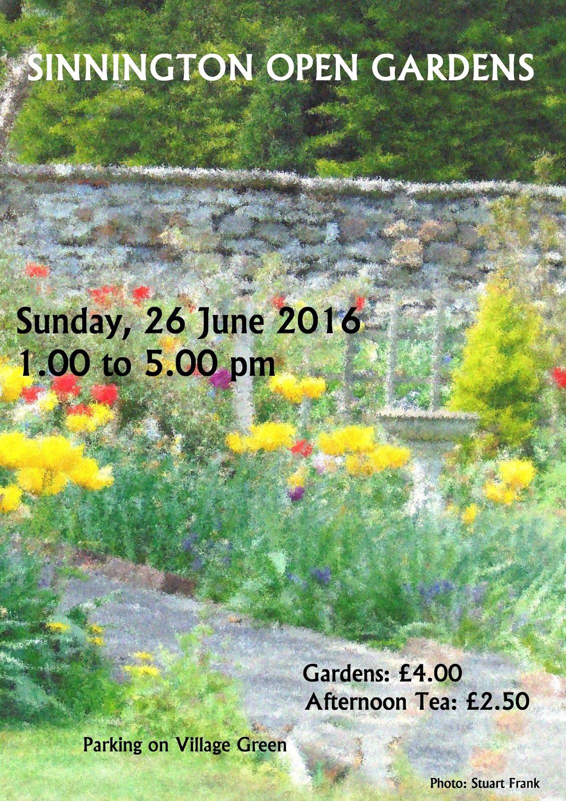 sinnington open gardens sunday 26th june 2016