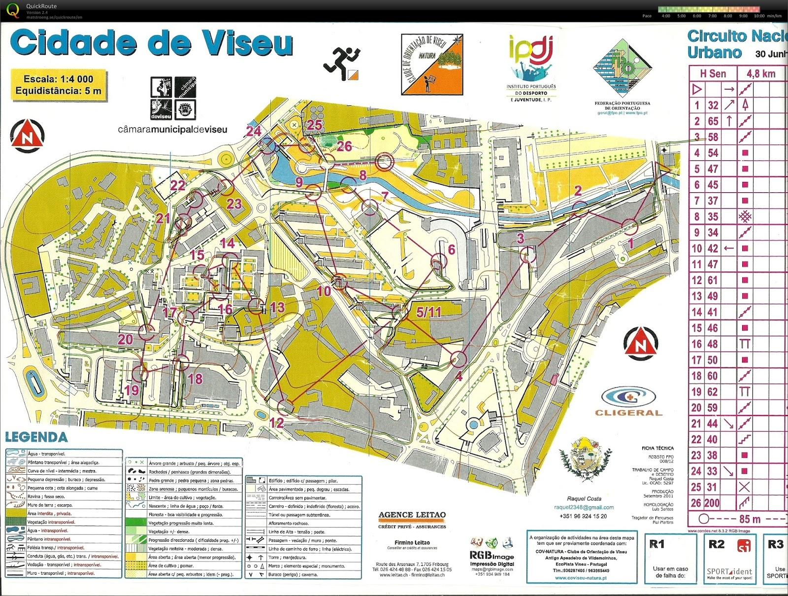 mapa cidade de viseu SÓ MAPAS: Troféu Orientação Cidade Viseu mapa cidade de viseu