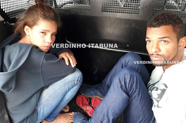 9f456bb9-7a7c-44f8-93bb-bd5e3178b683 Casal é preso praticando assaltos no centro de Itabuna