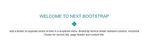 Bootstrap Divider