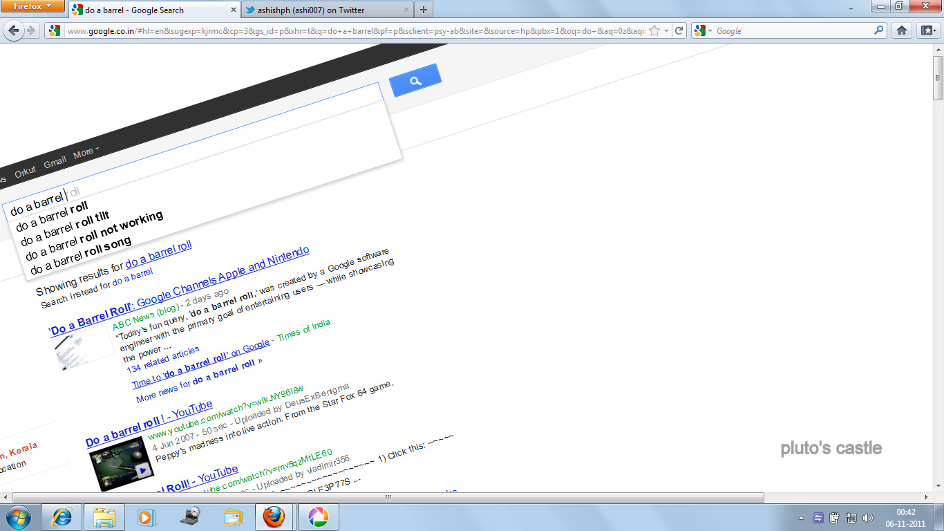 Do A Barrel Roll Google Tricks Google Tricks Bing