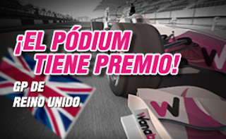 wanabet apuesta ganador f1 Gran Bretaña seguro de podium 10 julio