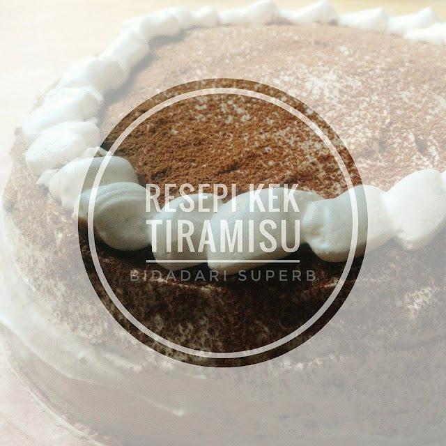 Resepi Tiramisu (Kek Coklat Chiffon + CreamCheese)