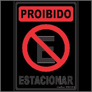 07638390313cf Ponto Visual Catálogo Virtual  Placa de sinalização Proibido Estacionar