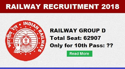 Railway Group D Vaccancy Chart 2018: Only for 10th Pass