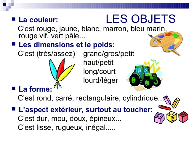 Opisywanie przedmiotów - słownictwo 3 - Francuski przy kawie