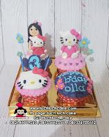 Cupcake Hello Kitty dan Anak Cewek