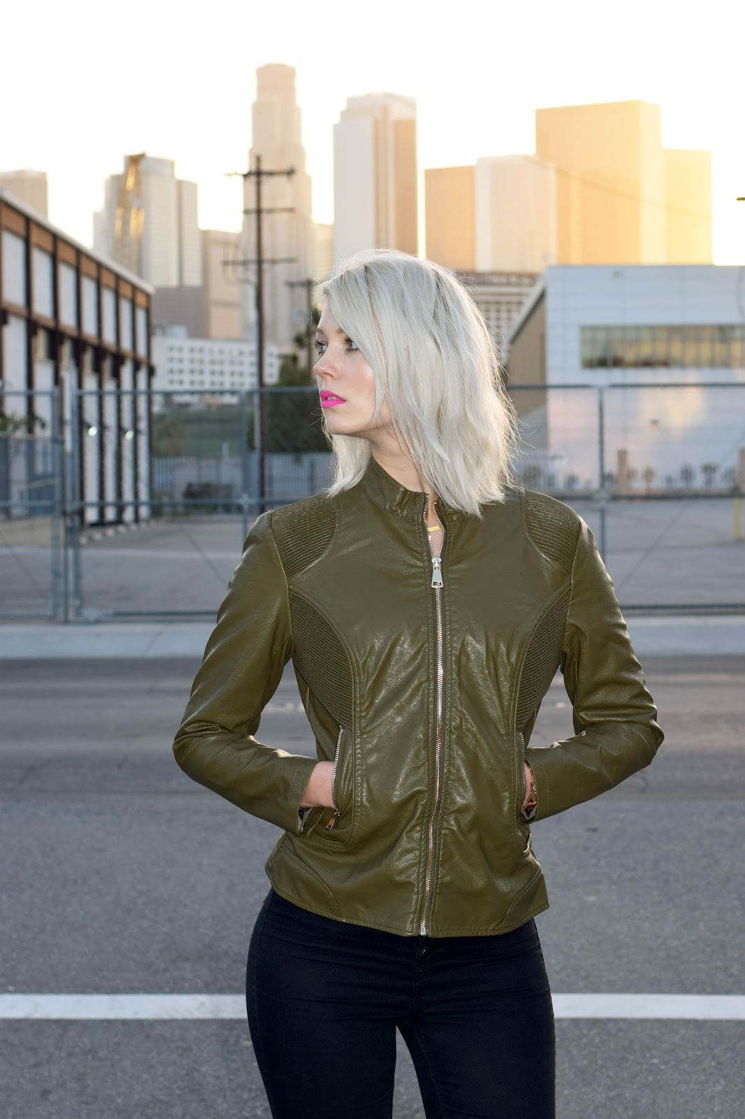 coalition LA, vegan leather jacket