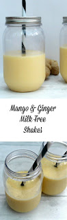 mango and ginger milk free shakes pin