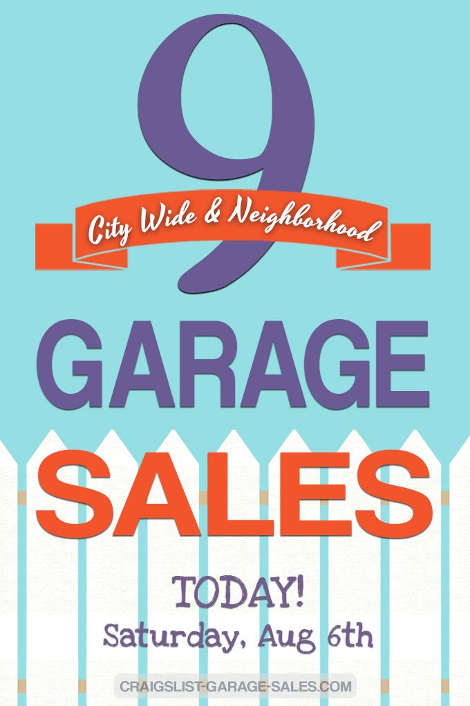Community Garage Sales | April 6th