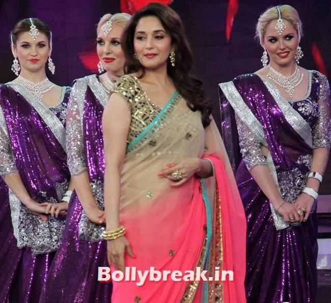 Madhuri Dixit, Madhuri Dixit Huma Quershi promote Dedh Ishqiya on Bigg Boss 7