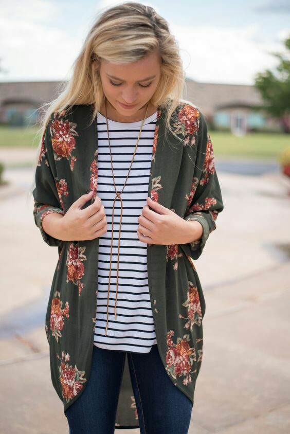 Floral printed sweater