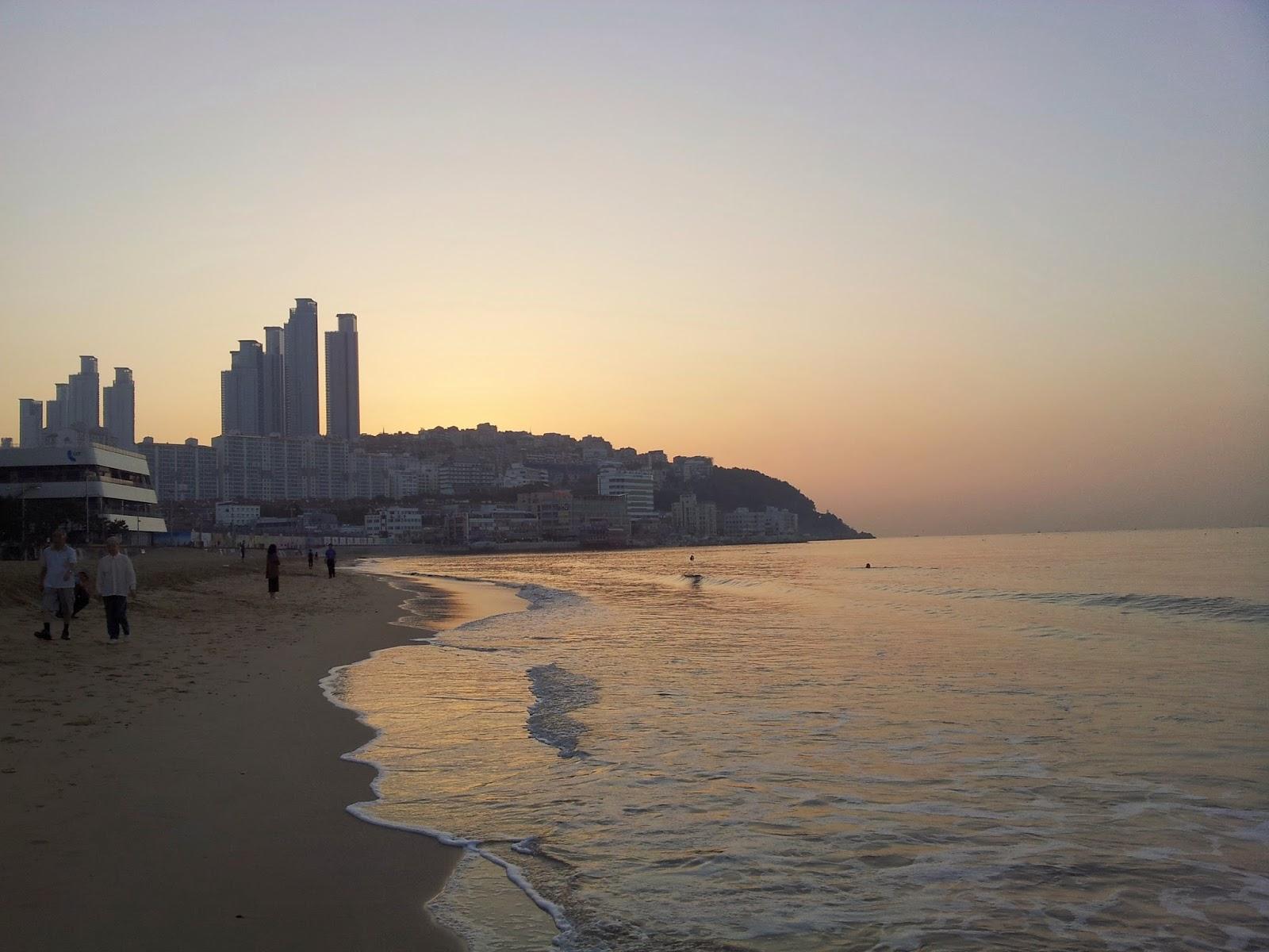 sunrise from Haeunae Beach