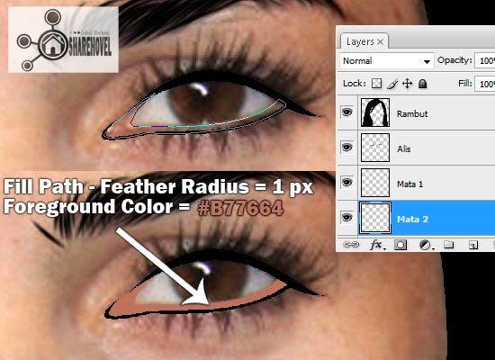 cara membuat vector mata menggunakan photoshop - tutorial membuat vector di photoshop - membuat foto menjadi kartun dengan photoshop