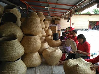 Kerajinan Bambu Desa Wisata Malangan.