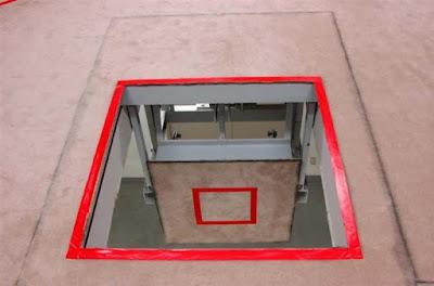 Gallows trapdoor at Tokyo Detention Center
