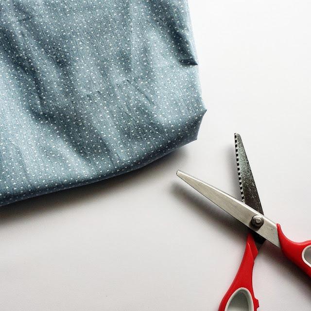 DIY bivokspapir - bomullsstoff og taggesaks