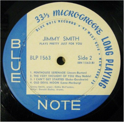 Vintage deep groove blue note label