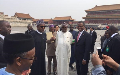 Buhari visits China's Forbidden City