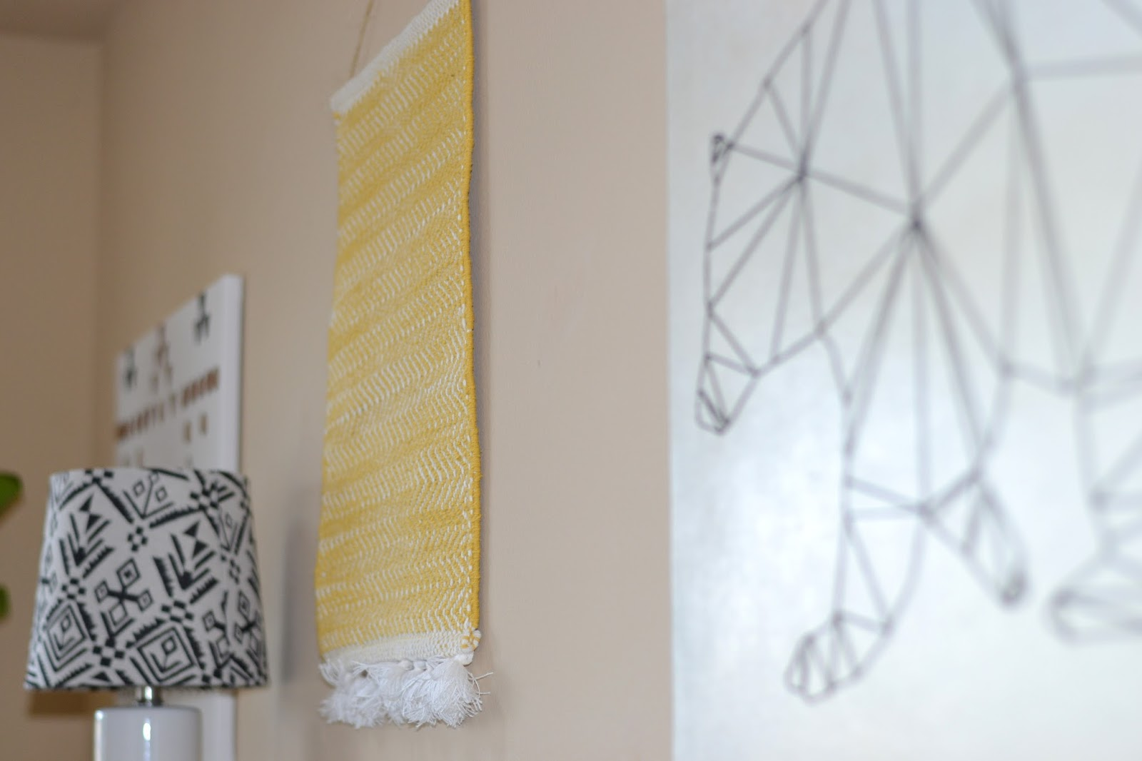 Decorating, Home. This Bear String Art Canvas ...