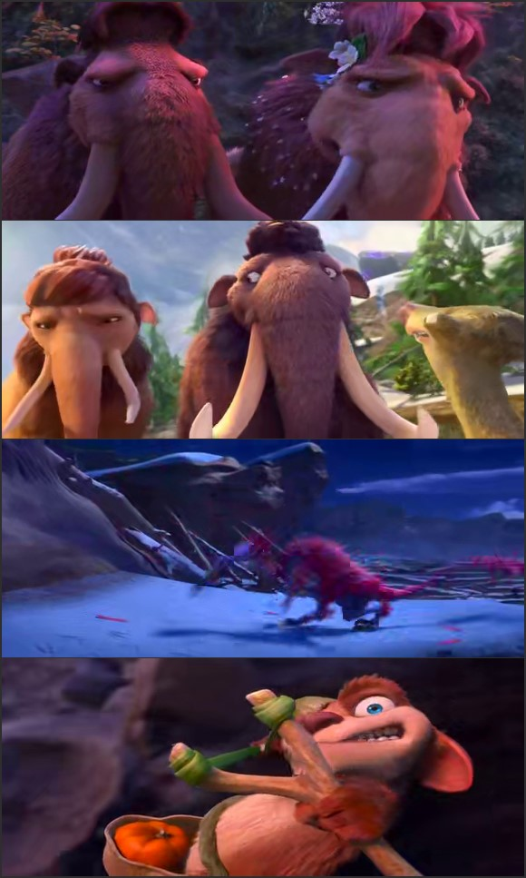 Screen Shot Of Ice Age Collision Course 2016 English Movie Hindi Dubbed Free Download 100MB HEVC For Mobiles