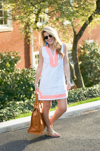 preppy outfit featuring sail to sable dress and jack rogers sandals