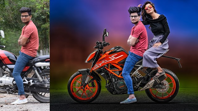 Add KTM Bike and Sexy Girl Photoshop Manipulation and CB editing Tutorial