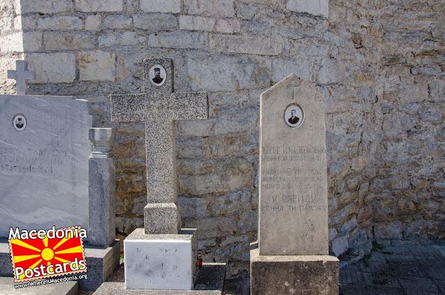 Гробови во црквата Успение на Пресвета Богородица - Охрид, Македонија