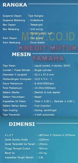 Yamaha Aerox-Spesifikasi