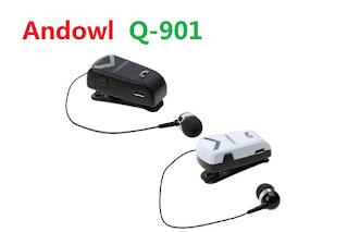 AURICOLARE BLUETOOTH RETRATTILE ANDOWL Q-901