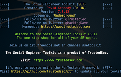 Create phishing pages using Social-Engineer Toolkit