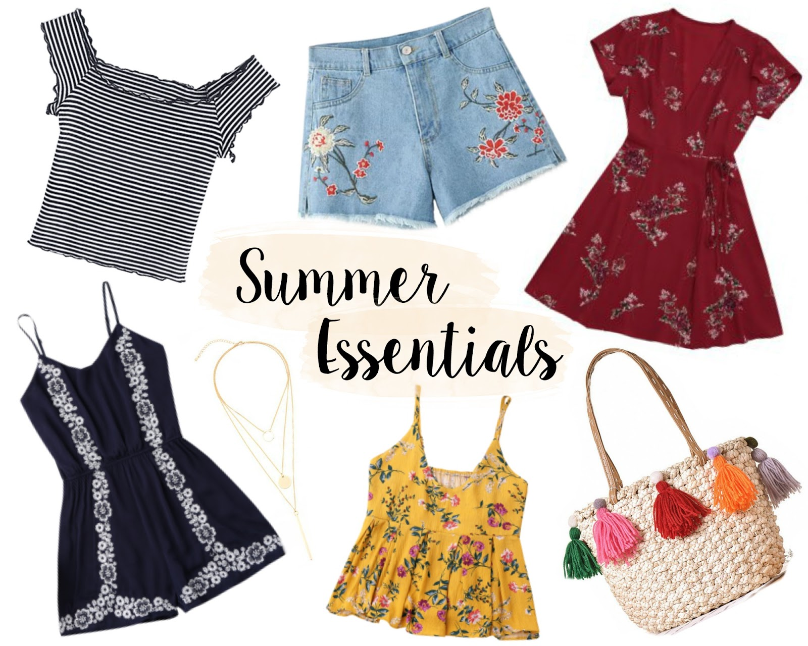 summer wardrobe essentials, summer fashion, zaful, rosegal