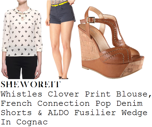 73b36f2a9317 sheworeit  Caroline Flack s Whistles Cream   Black Clover Print Silk ...
