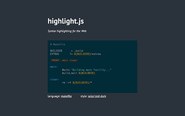 highlight js kullanımı