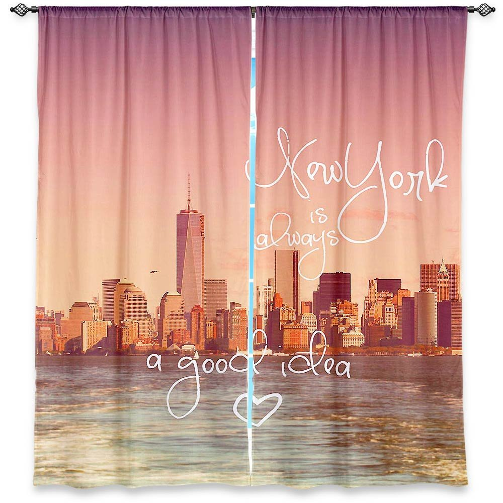 Total fab new york city skyline bedding nyc themed Blackout curtains city skyline