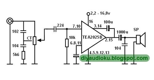 Layout Rangkaian Subwoofer Ic Tea2025 | Circuit Diagram Centre